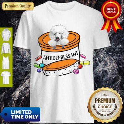 Nice White Poodle Antidepressant Mug T-Shirt