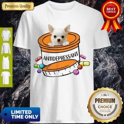 Pretty White Chihuahua Antidepressant T-Shirt