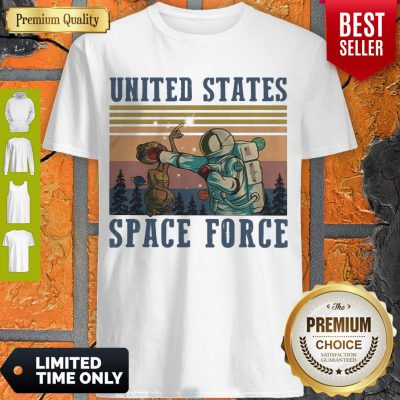 Top Alien United States Space Force Vintage Shirt