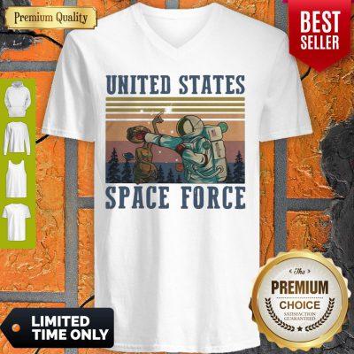 Top Alien United States Space Force Vintage V-neck