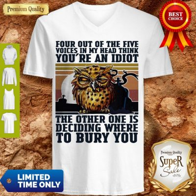 Top Owl Four Out Of The Five You're An Idiot Bury You V-neck