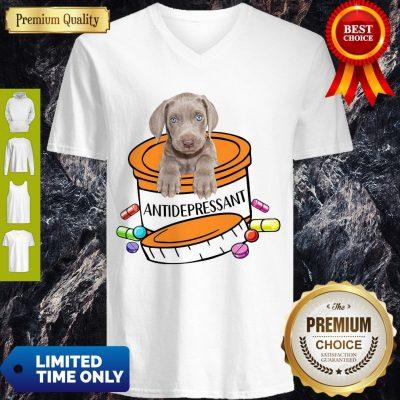 Official Weimaraner Antidepressant V-neck