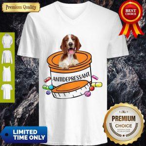 Top Welsh Springer Spaniel Antidepressant V-neck