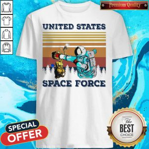 Astronaut Punch Alien In The Face United States Space Force Vintage Shirt