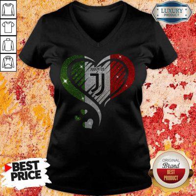 Awesome Juventus Diamond Heart V-neck