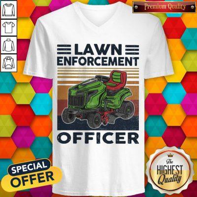 Awesome Lawn Enforcement Officer Vintage V-neck