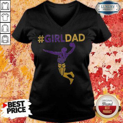 Funny Kobe Bryant Girl Dad V-neck