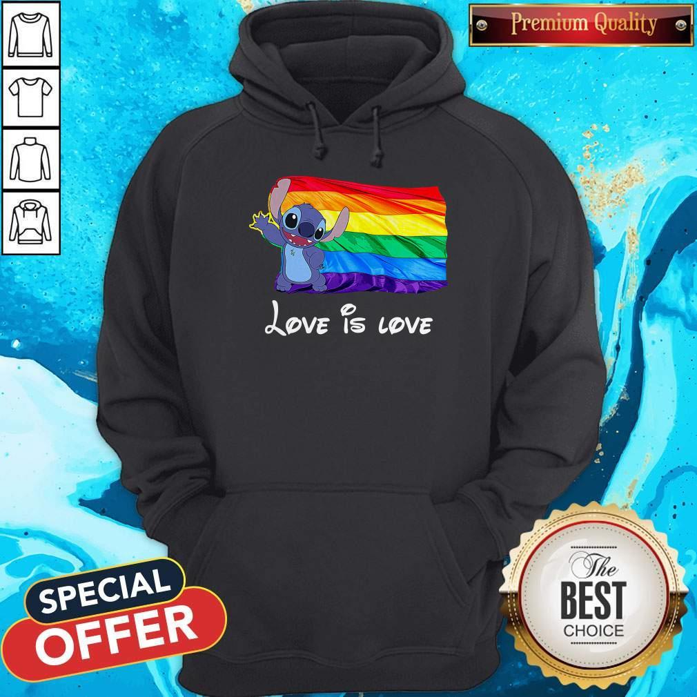 Funny Stitch LGBT Pride Love Is Love Hoodie