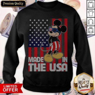 Good Mickey Mouse Made In The USA Flag Independence Day Sweatshirt