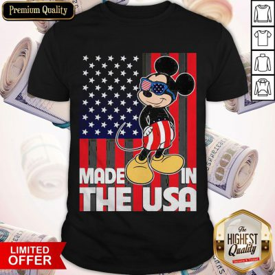 Good Mickey Mouse Made In The USA Flag Independence Day T-Shirt