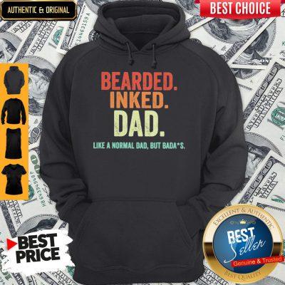 Nice Bearded Inked Dad Like A Normal Dad But Badas Vintage Hoodie