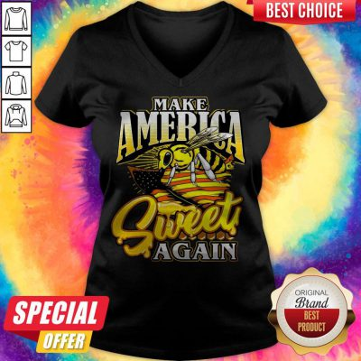 Premium Bee Make America Sweet Again V-neck