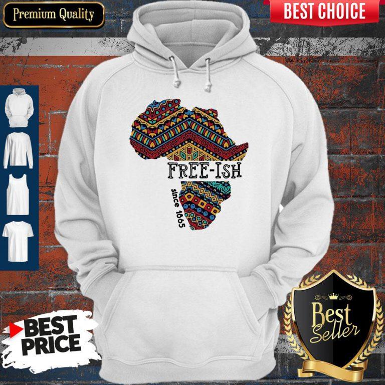 Premium Black Map Free-ish Since 1865 Hoodie