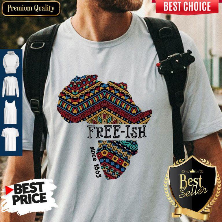 Premium Black Map Free-ish Since 1865 Shirt