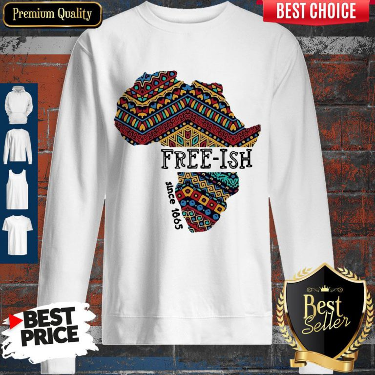 Premium Black Map Free-ish Since 1865 Sweatshirt