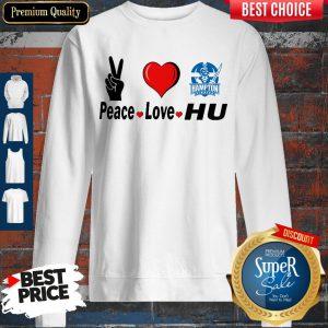 Premium Peace Love HU Hampton Pirates Sweatshirt