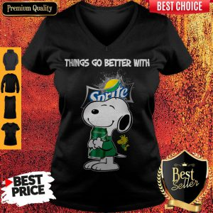 Snoopy Hug Sprite Lemon Lime Things Go Better With Sprite V-neck
