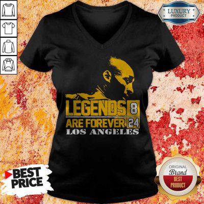 Top Kobe Bryant Legends Are Forever 8 24 Los Angeles V-neck