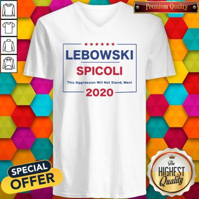 Top Lebowski Spicoli 2020 This Aggression Will Not Stand Man V-neck