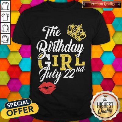 Top Queen Lip The Birthday Girl July 22nd Diamond Shirt