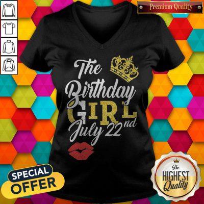 Top Queen Lip The Birthday Girl July 22nd Diamond V-neck