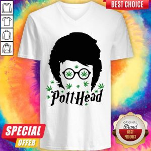 Awesome Harry Potter Potthead Weed Cannabis V-neck