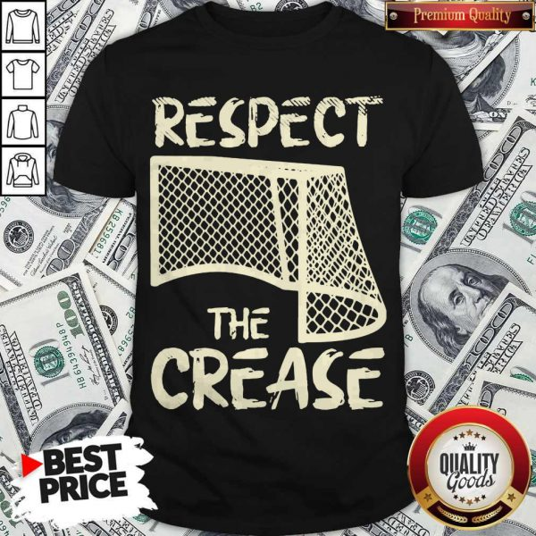 Awesome Hockey Respect The Crease Shirt