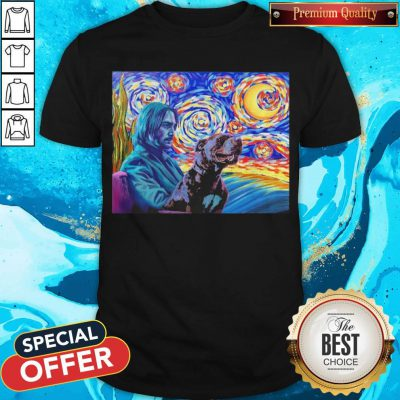 Awesome John Wick And Dog Starry Night Shirt