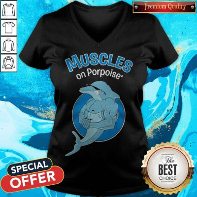 Awesome Muscles On Porpoise V-neck
