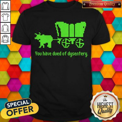 Awesome You Have Died Of Dysentery Shirt