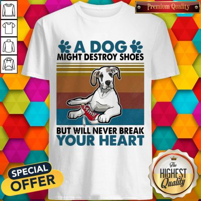 Funny A Dog Paw Might Destroy Your Shoes But Will Never Break Your Heart Shirt
