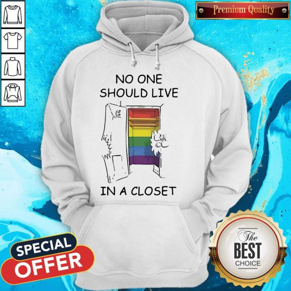 Funny Lgbt No One Should Live In A Closet Hoodie