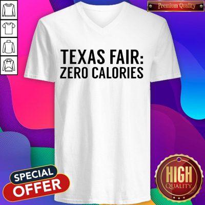 Funny Texas Fair Zero Calories V-neck