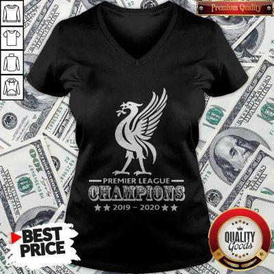 Liverpool Football Club Premier League Champions 2019 2020 Stars V-neck