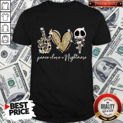 Nice Peace Love Nightmare Skellington Diamond Shirt