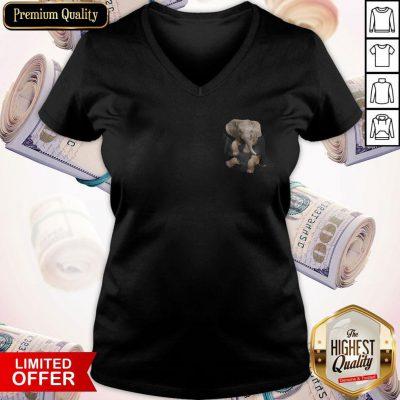 Pretty Pocket In A Elephants V-neck