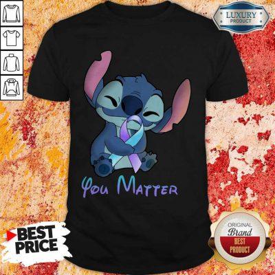 Pretty Stitch Hug Breat Cancer You Matter Shirt