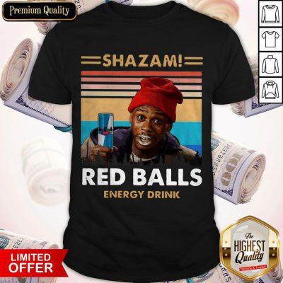 Top Shazam Red Balls Energy Drink Vintage Shirt