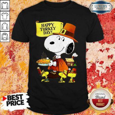 Top Snoopy And Woodstocks Happy Turkey Day Shirt