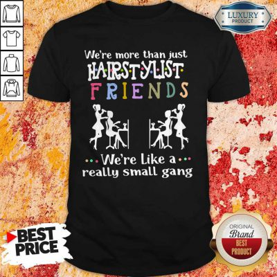 We're More Than Just Hair Stylist Friends We're Like A Really Small Gang Shirt