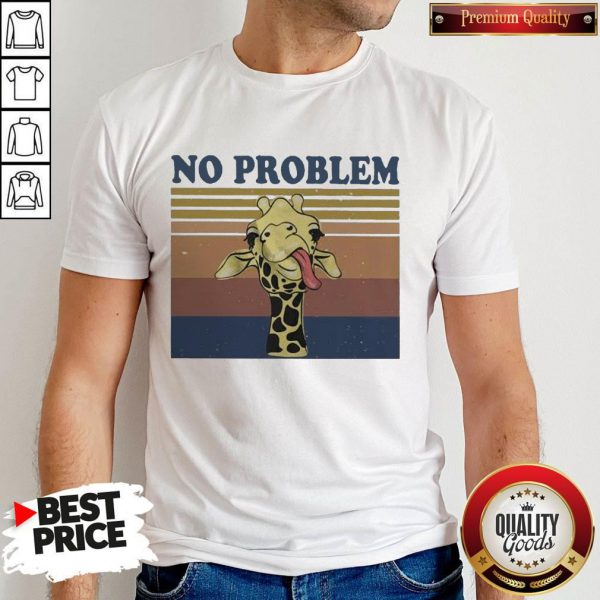 Awesome No Problem Giraffe Funny Vintage Shirt