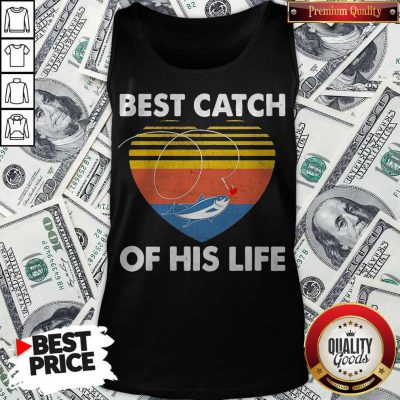 Couple Fishing Best Catch Of This Life Vintage Retro Tank Top