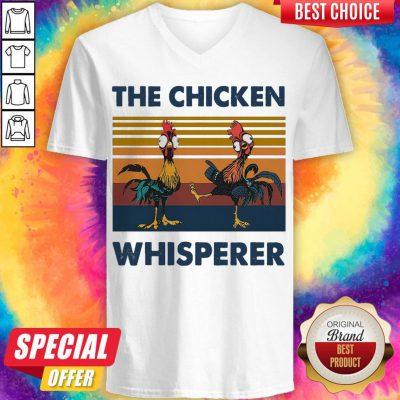 Funny Hei Hei The Chicken Whisperer Vintage V-neck