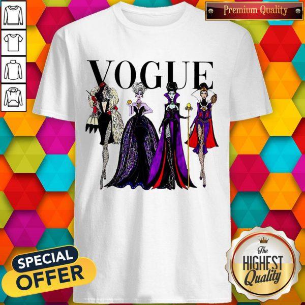 Funny Vogue Disney Villains Evil Divas Paco Chicano Shirt