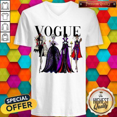Funny Vogue Disney Villains Evil Divas Paco Chicano V-neck