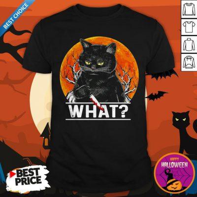 Michael Myers Black Cat Halloween What Shirt