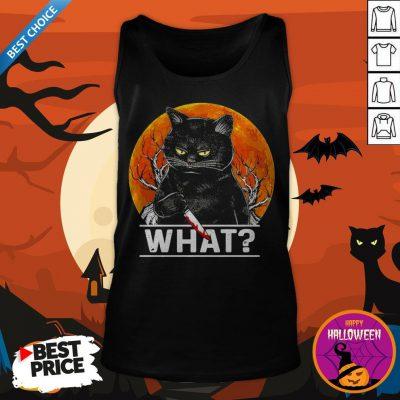 Michael Myers Black Cat Halloween What Tank Top