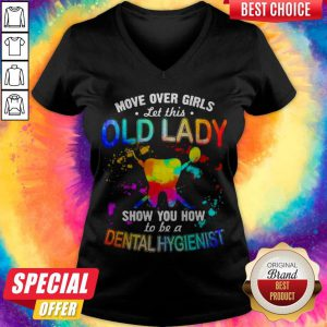 Move Over Girls Let This Old Lady Show You How To Be A Postal Worker Vintage V-neck