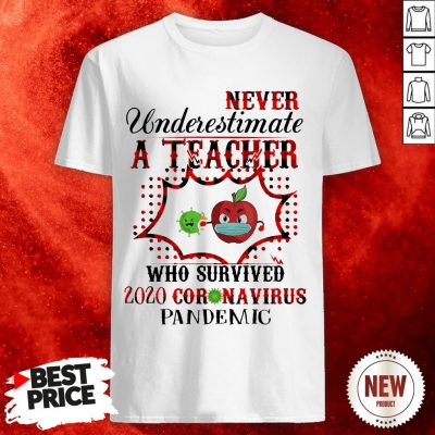 Never Underestimate A Teacher Who Survived 2020 Coronavirus Pandemic Shirt