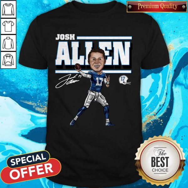 Premium Josh Allen Cartoon Tee Buffalo Bills Mafia Shirt